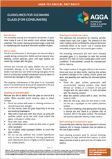 Guidlines For Cleaning Glass (For Consumers) 1
