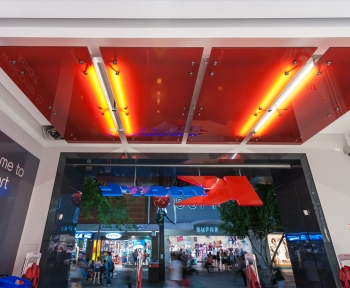 Kmart, Rundle Mall<br>Adelaide, SA<br>Custom Toughened Laminated with digitally printed interlayer